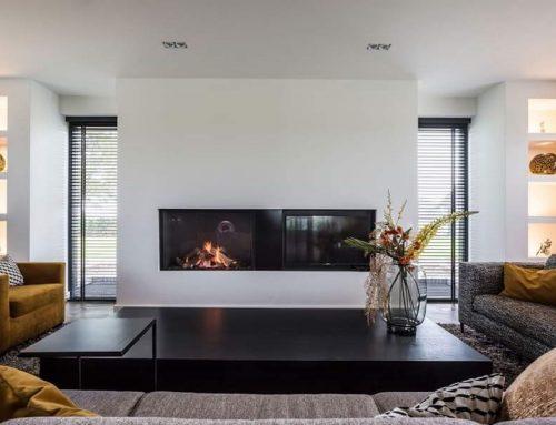 Interieur design inclusief moderne schouw